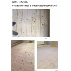 Kit Saving: DC001 (c) WOCA softwood lye & Woca Master Colour Oil white Work by hand 16 to 35m2  (DC)