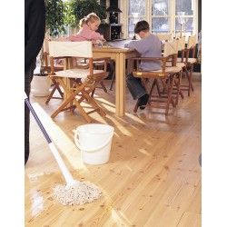 Kit Saving: DC010 (c) Woca Wood Lye white & Woca White Soap floor, 16 to 35m2, Work by hand   (DC)