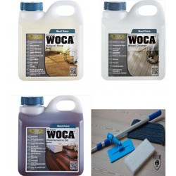 Kit Saving: DC126, Starter care and care for naturally classicoiled wood, inc a Doodlebug, 1ltr Woca Natural Floor Soap, Maintenance Oil and 1ltr Wood Cleaner  (DC)