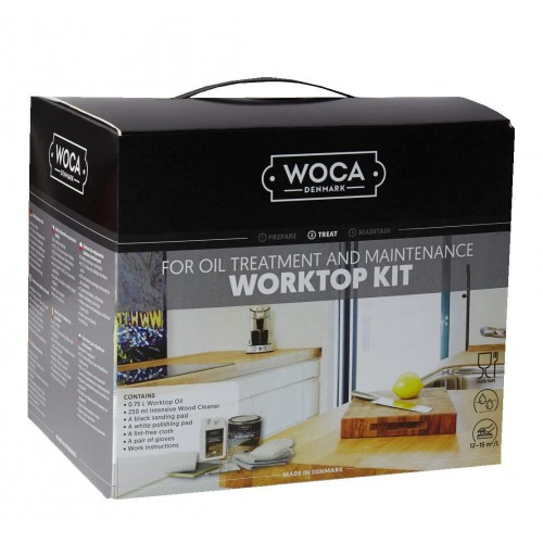 Woca Worktop Oiling Box Kit, Natural 699975AN  (DC)