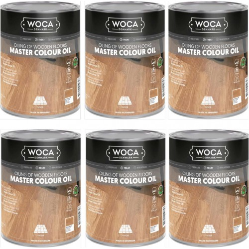 TRADE PRICE! Woca Master Colour Oil Extra White 118 6ltr total; box of 6 x 1L 531800AA (DC)