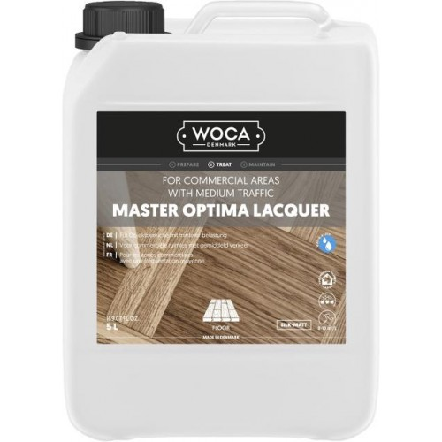 Woca Master Optima Lacquer, Silk-Matt, Glanz 20, 5L total, 690126AA  (HA)